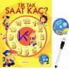 Tik Tak Saat Kaç ? - kitap + DVD + kalem hediyeli - yazılıp silinebilir