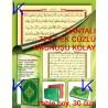 Kur'an-ı Kerim Hatmi Tek Tek Cüzlü (Kuran) - Çantalı, bilgisayar hatlı, orta boy, yeşil renk