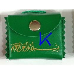 Mini Kur'an-ı Kerim - Askılı, Kılıflı - yeşil renk