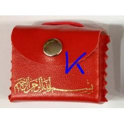 Mini Kur'an-ı Kerim - Askılı, Kılıflı - kırmızı renk