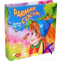 Parmak Çocuk - Yap Boz lu Masallı sert karton kitap - Hobi