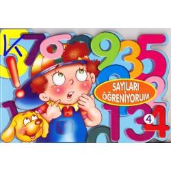 Sayıları Öğreniyorum - Sert karton sayfa kitap - Hobi