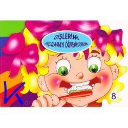 Dişlerimi Fırçalamayı Öğreniyorum - Sert karton sayfa kitap - Hobi