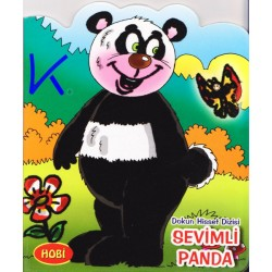 Sevimli Panda - Dokun Hisset Dizisi - Sert karton sayfa kitap - Hobi