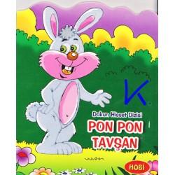 Pon Pon Tavşan - Dokun Hisset Dizisi - Sert karton sayfa kitap - Hobi