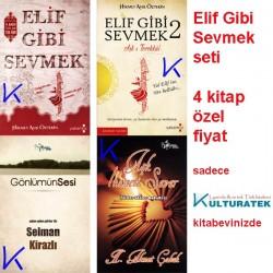 Elif Gibi Sevmek seti - 4 kitap set - Özel fiyat - gül kokulu özel baskı - Hikmet Anıl Öztekin