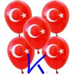 Türk Bayraklı Şişirme Balon