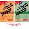 Kendi Kendine Hızlı Arapça 2 set  - 4 kitap + 11 CD - Fono