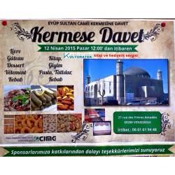 12.04.15 pazar günü Vénissieux Eyup Sultan camii kermesinde kitap ve hediyelik sergisi