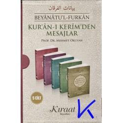 Kur'an-ı Kerim'den Mesajlar - 5 cilt takım - Beyanatül Furkan - Mehmet Okuyan, pr dr