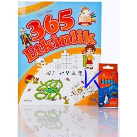 365 Güne 365 Etkinlik - CDR ve 6 boyama kalemi hediyeli