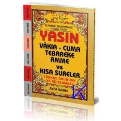 Yasin, Vakia, Cuma, Tebareke, Amme ve Kısa Sureler - okunuşlu ve açıklamalı - çanta boy - ayfa043