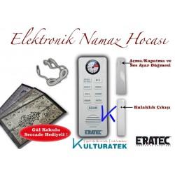 Elektronik Namaz Hocası - Sesli Kulaklıklı Gül Kokulu Seccade - Eratec