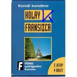 Kendi Kendine Kolay Fransızca - 3 Kitap + 4 Kaset
