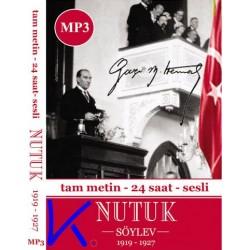 Nutuk - Tam Metin, 24 saat - Sesli MP3 CD - M. Kemal Atatürk