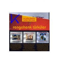 Rengahenk Türküler - Turkish Folk Music, 3 CD bir arada