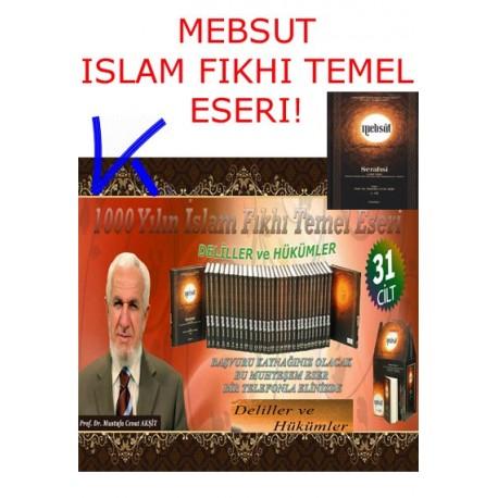 MEBSUT - 31 ciltlik Islam Fıkhı Temel Kaynak Eseri - Serahsi, Mustafa Cevat Akşit, pr dr