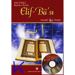 Tecvidli Kur'an-ı Kerim Elifbası, Elifbe + Interaktif CDR destekli - Diyanet