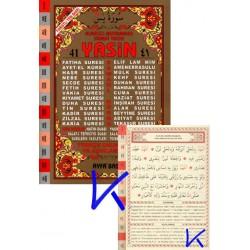 41 Yasin (ayfa011) - Orta boy, Indeksli, Türkçe Okunuşlu ve Mealli (3 lü), Elmalılı Hamdi Yazır