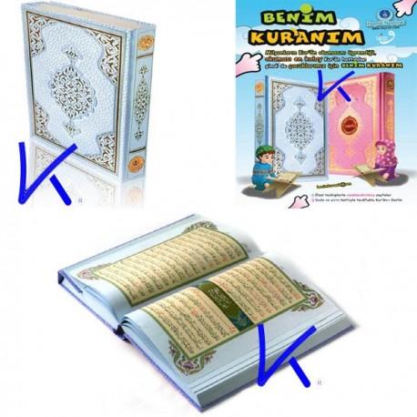 Benim Kur'an'ım - orta boy, mavi Kuran - Hayrat Neşriyat
