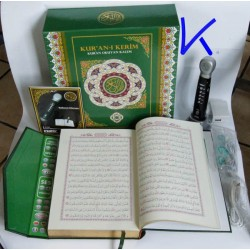Kalem Kuran - Kur'an Okuyan Kalem - Kurani Kerim - PIYASADA EN KALITELISI ! Eratec garantisi ile - kırmızı renk