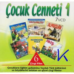 Çocuk Cenneti 1 - 6 çizgi film seti - 7VCD