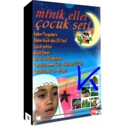 Minik Eller Çocuk Seti - 10 VCD - ilahi, çizgi film, namaz eğitimi seti