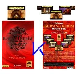 Görsel Kur'an-ı Kerim Hatim Seti - 30 VCD - Ahmet el-Acemi - görüntülü ok takipli Kuran hatim