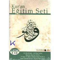 Kur'an Eğitim Seti - 1 kitap 5 VCD - elifba ve Kuran öğretim seti