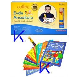 Caillou Evde Anaokulu oyunu eğitim seti - Kitap + Akıllı konuşan kalem