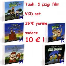 Tuah - macera 5 çizgi film seti - VCD