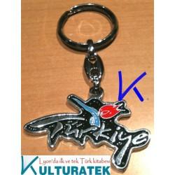 Anahtarlık - logo Türkiye lale - metal