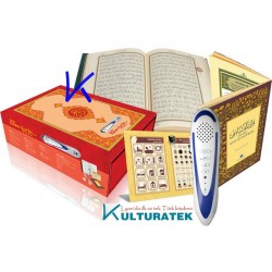 Kalem Kur'an - Elifba ilaveli - Kuran ve elifbe okuyan Kalem - yeşil renk - Hayrat - kalem Kuran