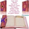Benim Kur'an'ım - rahle boy, lila pembe Kuran - Hayrat Neşriyat