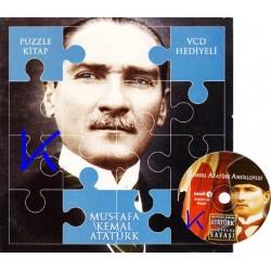 Mustafa Kemal Atatürk - Puzzle Kitap - VCD Hediyeli