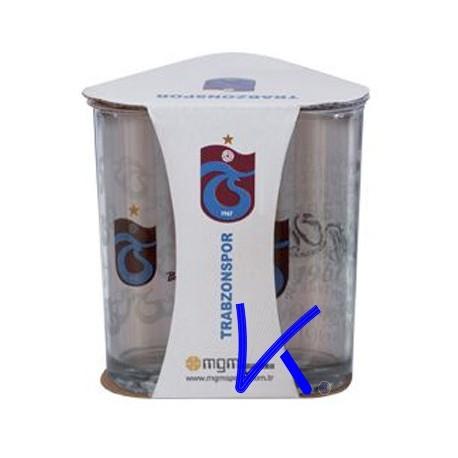 Meşrubat Bardağı Trabzonspor - 3 lü set - lisanslı cam bardak