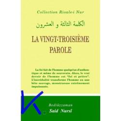 La Vingt Troisième Parole - Risale i Nur - Bediüzzaman Said Nursi