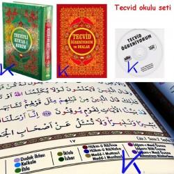 Tecvidli Renkli Kuranı Kerim + Tecvid Kitabı + Tecvid Öğreniyorum VCD HEDIYELI - orta boy - nuh