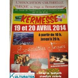 19-20 nisan, cumartesi ve pazar, Beaurepaire (38270) Kermesinde kitap ve hediyelik sergimizle sizlerleyiz