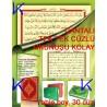 Kur'an-ı Kerim Hatmi Tek Tek Cüzlü (Kuran) - Çantalı, bilgisayar hatlı, orta boy, kırmızı renk