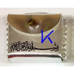 Mini Kur'an-ı Kerim - Askılı, Kılıflı - gümüş renk