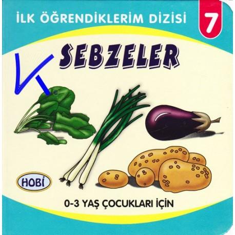 Sebzeler - Ilk Öğrendiklerim dizisi - Hobi - Sert karton kitap