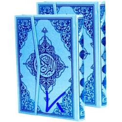 Kur'an-ı Kerim - mavi renk - bilgisayar hatlı Kuran - rahle boy - 2 renk - seda