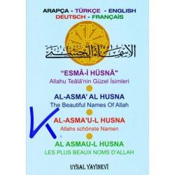 Esma i Hüsna - 4 Dilde - arapça, türkçe, english, deutsch, français