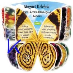 Kelebek Ayet - Hadis Magnet - mıknatıslı