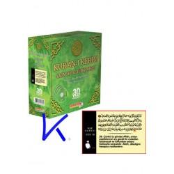 Kur'an-ı Kerim Hatim Seti ve Türkçe Meali - 30 VCD Fatih Çollak