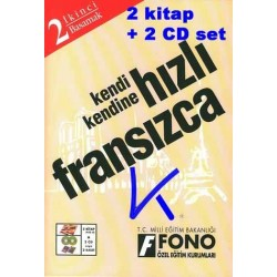 Kendi Kendine Hızlı Fransızca 2 - 2 Kitap + 2 CD Set