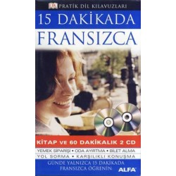 15 Dakikada Fransızca - 1 Kitap + 2 CD