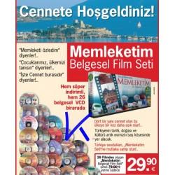 Memleketim - Türkiye belgeseli, 26 VCD'lik set