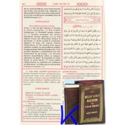 Kur'an-ı Kerim ve Yüce Meali, Üçlü, Cep Boy, Pamuk - kolay okunan, bilgisayar hatlı, hem arapça, hem meal, hem okunuşlu Kuran